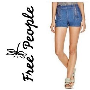Free People Blue Magic Festival Zip Shorts 30